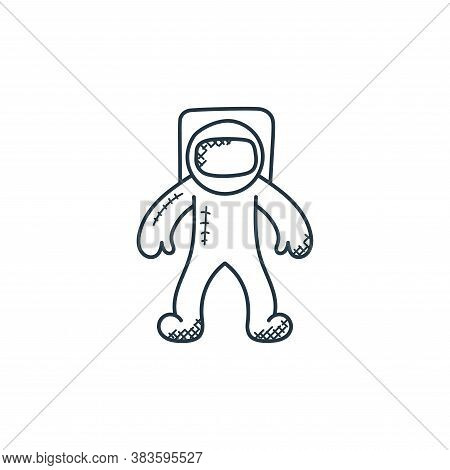 astronauts icon isolated on white background from space and aircraft collection. astronauts icon tre