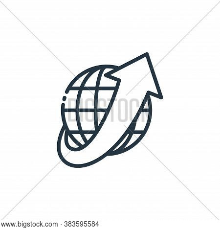 worldwide shipping icon isolated on white background from shipping logistics collection. worldwide s