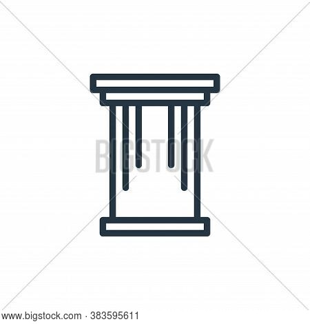 pillar icon isolated on white background from travel collection. pillar icon trendy and modern pilla