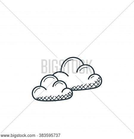 clouds icon isolated on white background from weather collection. clouds icon trendy and modern clou