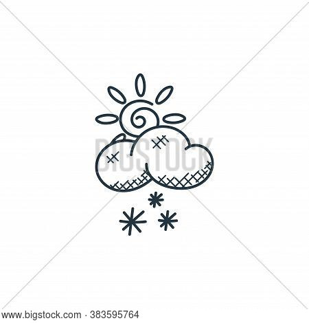 snowfall icon isolated on white background from weather collection. snowfall icon trendy and modern