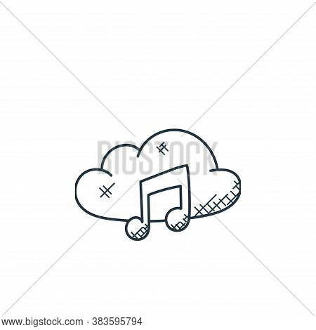 music cloud icon isolated on white background from music collection. music cloud icon trendy and mod