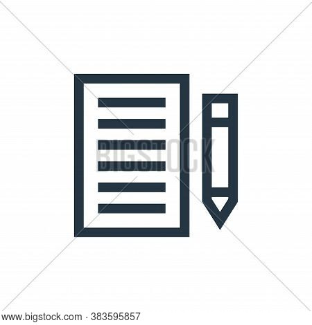 paper icon isolated on white background from education collection. paper icon trendy and modern pape