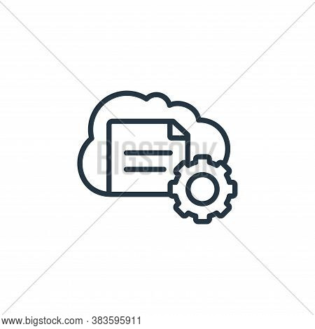 cloud storage icon isolated on white background from seo and website collection. cloud storage icon