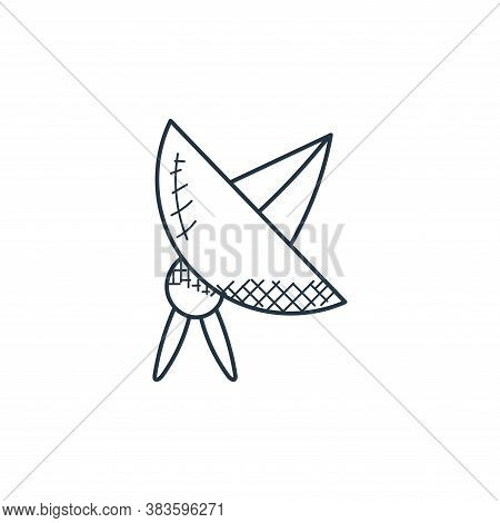 satellite dish icon isolated on white background from space and aircraft collection. satellite dish