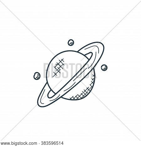 saturn icon isolated on white background from space and aircraft collection. saturn icon trendy and