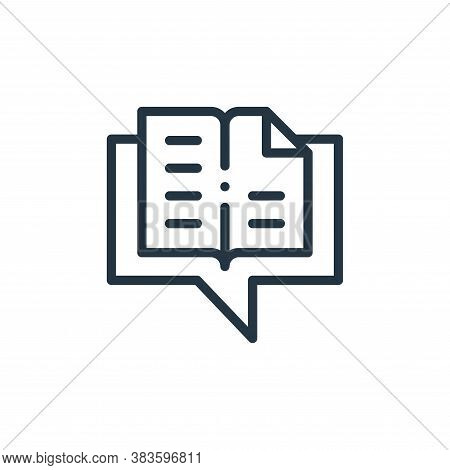 conversation icon isolated on white background from books collection. conversation icon trendy and m
