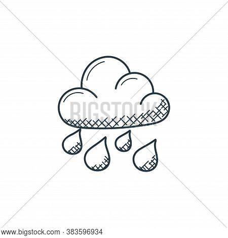 raining icon isolated on white background from weather collection. raining icon trendy and modern ra