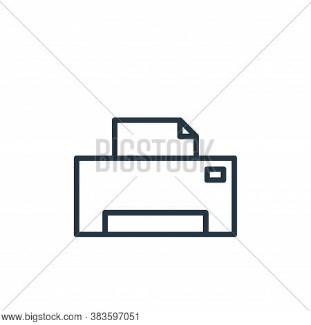 printer icon isolated on white background from computer collection. printer icon trendy and modern p