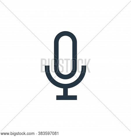 microphone icon isolated on white background from electronic collection. microphone icon trendy and