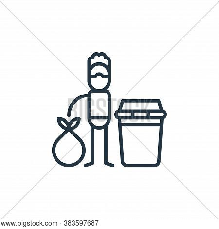 waste icon isolated on white background from climate change collection. waste icon trendy and modern
