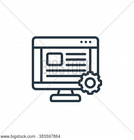 web settings icon isolated on white background from seo and website collection. web settings icon tr