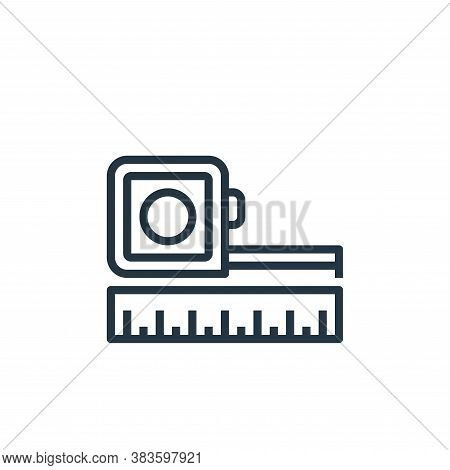 measuring tape icon isolated on white background from labour day collection. measuring tape icon tre