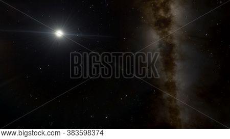 Stars In Sky, Starry Night Starlight Shine Of Milky Way, Space Cosmic Background, Starry Background
