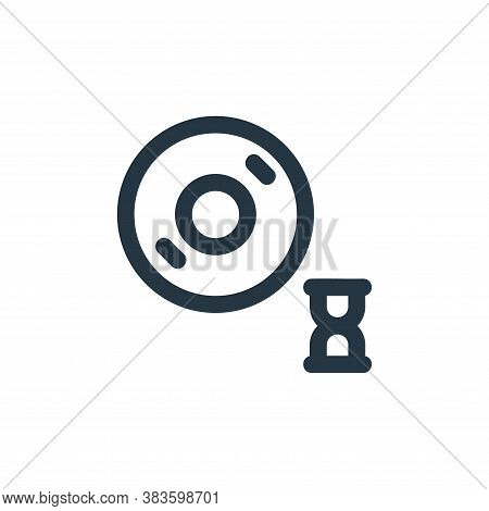 loading icon isolated on white background from disc tool line collection. loading icon trendy and mo