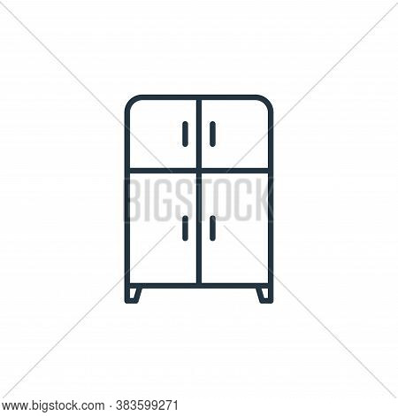 cupboard icon isolated on white background from furniture collection. cupboard icon trendy and moder