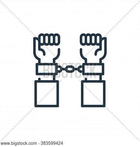 custody icon isolated on white background from law and justice collection. custody icon trendy and m