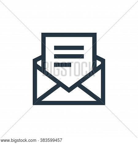 email icon isolated on white background from message collection. email icon trendy and modern email