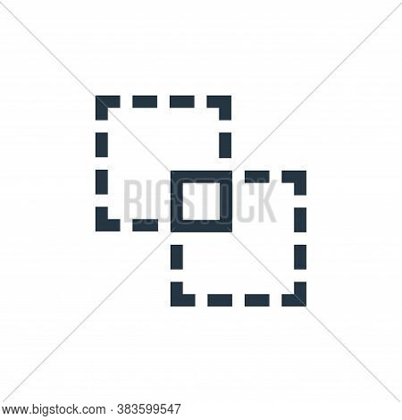 intersect icon isolated on white background from vector editing collection. intersect icon trendy an