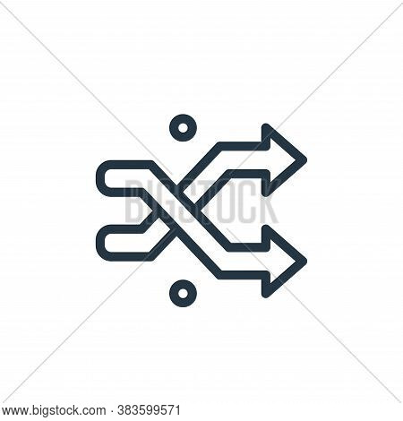 shuffle icon isolated on white background from miscellaneous collection. shuffle icon trendy and mod