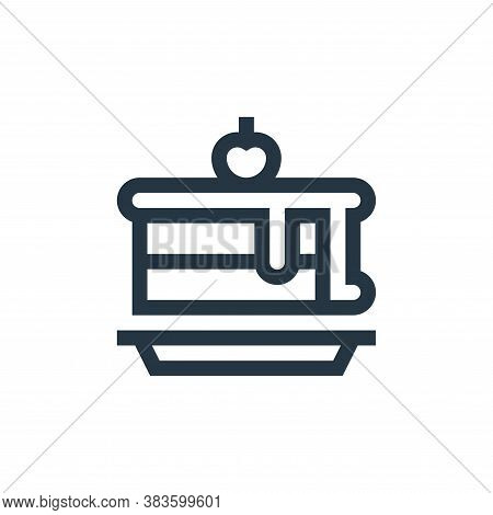 piece of cake icon isolated on white background from baby shower collection. piece of cake icon tren
