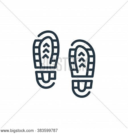 footprints icon isolated on white background from law and justice collection. footprints icon trendy