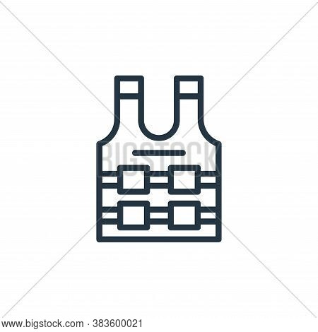bulletproof vest icon isolated on white background from crime collection. bulletproof vest icon tren