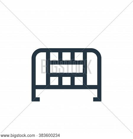 fence icon isolated on white background from music festival collection. fence icon trendy and modern