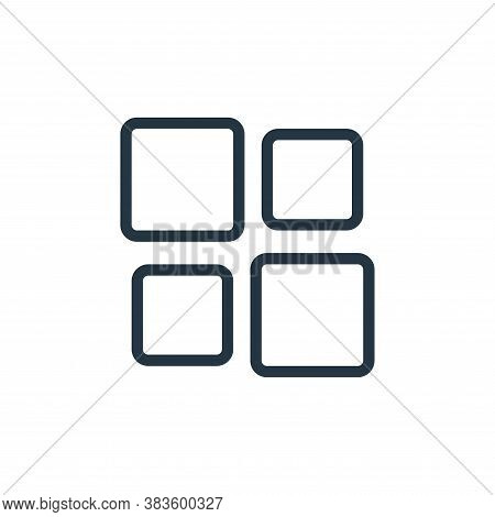 thumbnails icon isolated on white background from miscellaneous collection. thumbnails icon trendy a