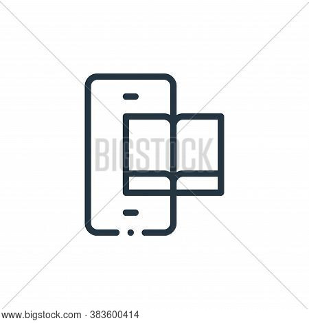 ebook icon isolated on white background from books collection. ebook icon trendy and modern ebook sy