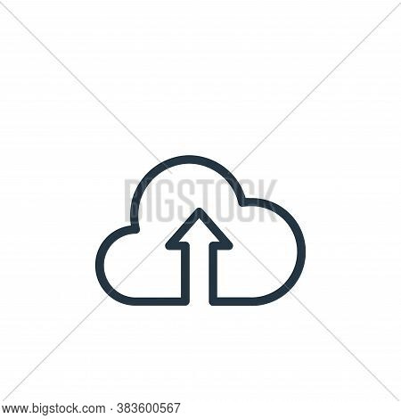 upload icon isolated on white background from seo collection. upload icon trendy and modern upload s