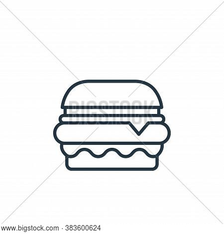 burger icon isolated on white background from bakery collection. burger icon trendy and modern burge