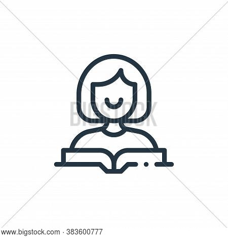 reader icon isolated on white background from books collection. reader icon trendy and modern reader