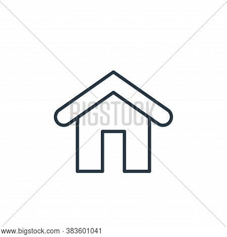 house icon isolated on white background from e commerce collection. house icon trendy and modern hou
