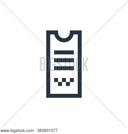 receipt icon isolated on white background from taxi service collection. receipt icon trendy and mode