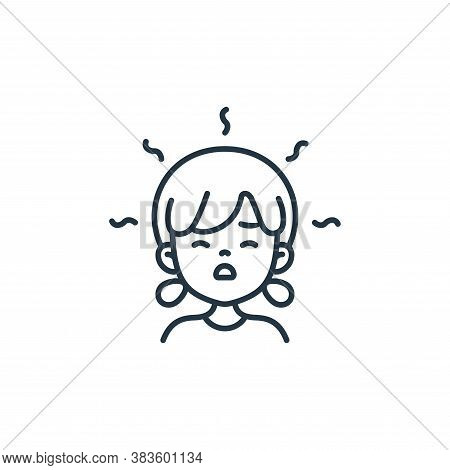 girl icon isolated on white background from air pollution collection. girl icon trendy and modern gi