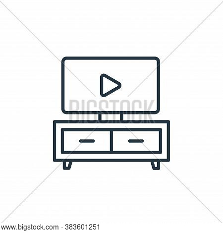tv table icon isolated on white background from furniture collection. tv table icon trendy and moder