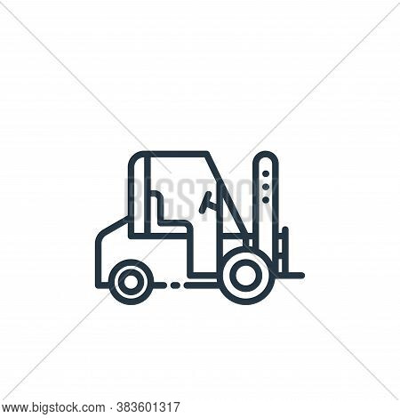 forklift icon isolated on white background from shipping logistics collection. forklift icon trendy