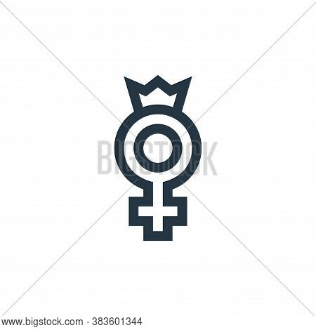 womens day icon isolated on white background from mothers day collection. womens day icon trendy and