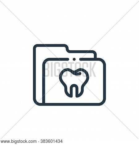 dental record icon isolated on white background from dentist collection. dental record icon trendy a