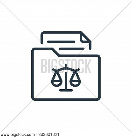 archive icon isolated on white background from law and justice collection. archive icon trendy and m