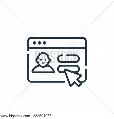 login icon isolated on white background from programming collection. login icon trendy and modern lo