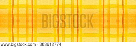 Red Tartan Background. Watercolor Check Material. Woven Traditional Stripes For Tweed Design. Seamle