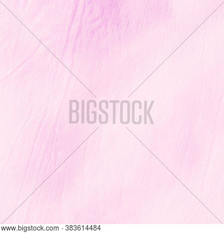 Pink Pastel Ikad Chevron. Dyed Background. Watercolor Paint Splatter. Wrinkled Paper. Ogee Pattern.