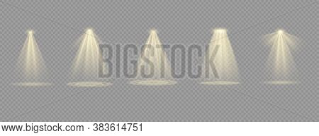 Vector Spotlight. Light Effect.glow Isolated White Transparent Light Effect. Abstract Special Effect