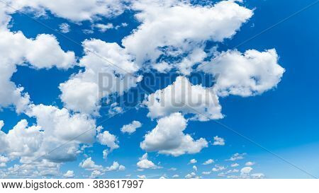 Blue Sky And Clouds With Daylight Natural Background.