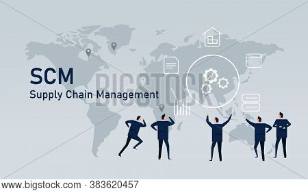 Logistic World Wide Commerce Supply Chain Management Delivery Inventory Industry