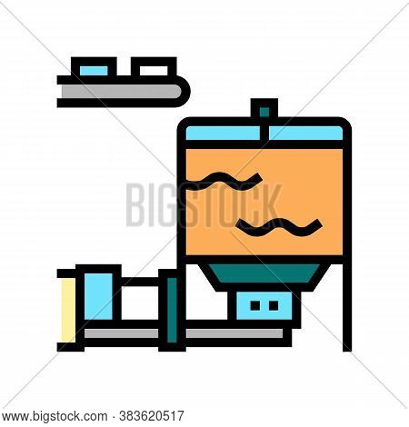 Blow Tank Color Icon Vector. Blow Tank Sign. Isolated Symbol Illustration