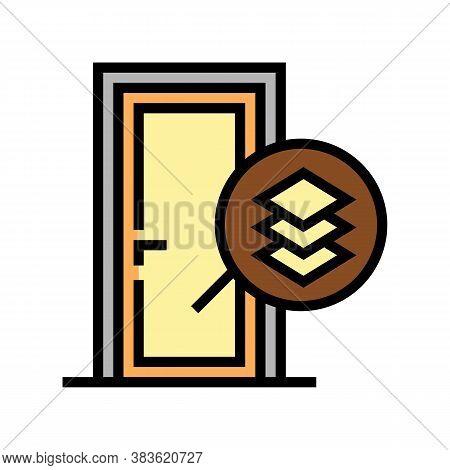 Medium Density Fibreboard Material Door Color Icon Vector. Medium Density Fibreboard Material Door S