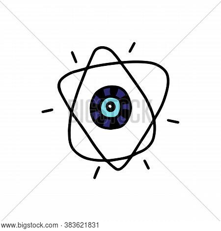 Amulet Or Talisman With Evil Eye From Spoilage, Vector Illustration Isolated.